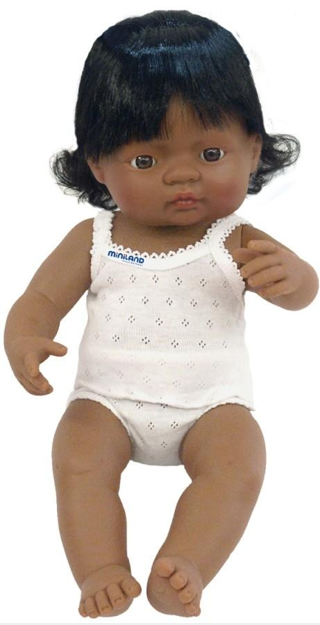 Miniland - Baby Doll 38cm - Hispanic Girl