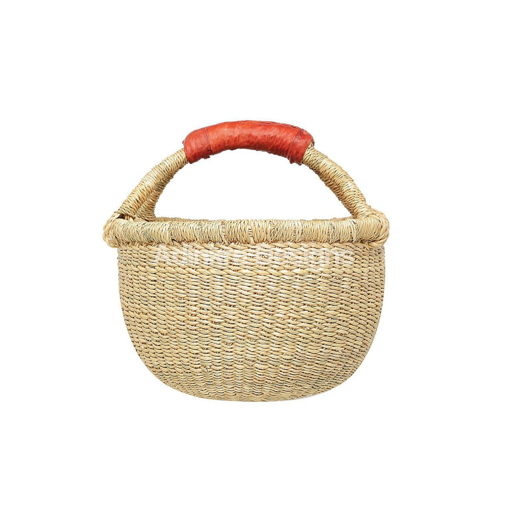 Adinkra - Round Basket Small - Natural