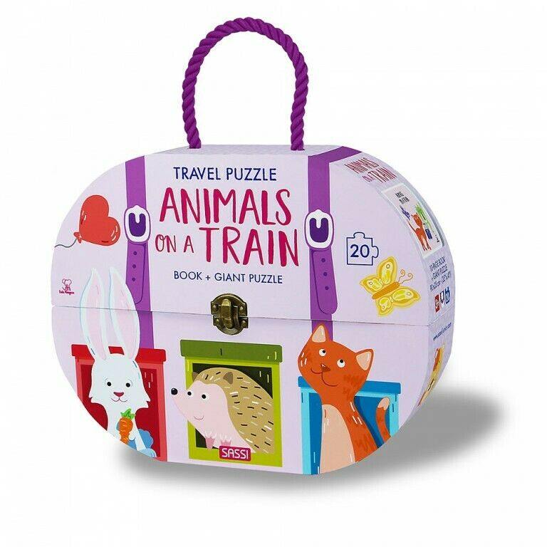 Book - Travel Giant Puzzle & Book - Animals on a Train