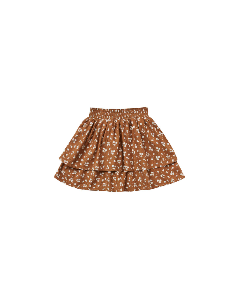 Rylee & Cru - Tiered Mini Skirt - Cinnamon Ditsy