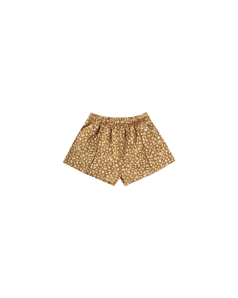 Rylee & Cru - Golden Berry Sweat Short - Goldenrod