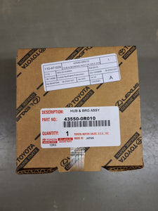 Genuine Toyota Hub and Bearing Assembly 43550-0R010