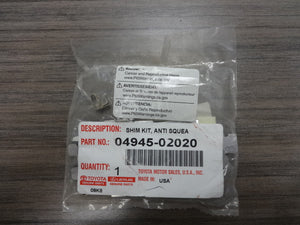 Genuine Toyota Brake Shims 04945-02020