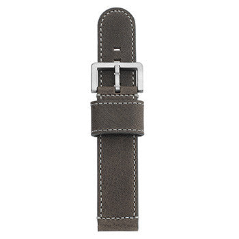 Watch Strap: Grey Leather For SB Metropolis-SB Design Studio