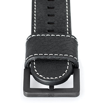 "Watch Strap: Black ""Noir"" Leather For SB Metropolis-SB Design Studio"