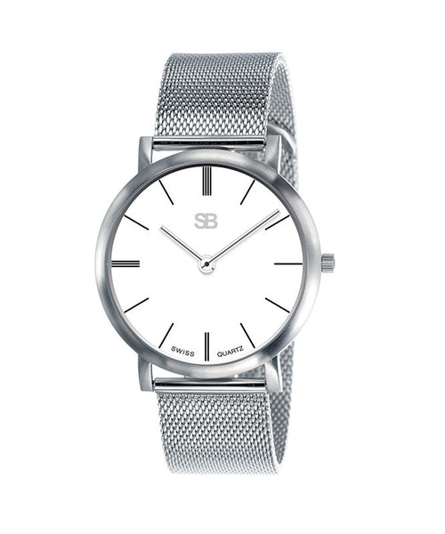 SB 13.1 SOB Steel Watch w/Mesh Bracelet-SB Design Studio
