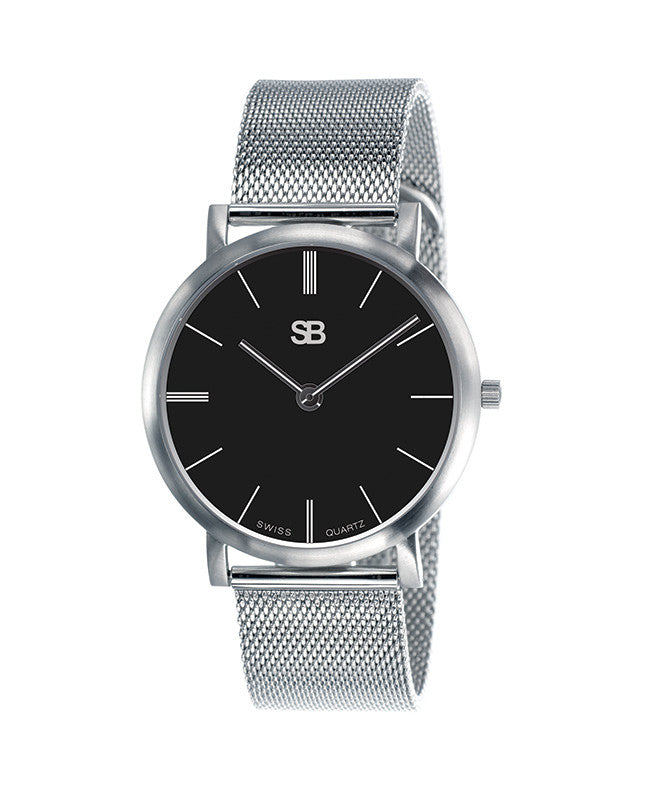 SB13.2 SOB Steel Watch w/Mesh Bracelet-SB Design Studio
