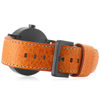 Watch Strap: Orange Leather For SB Metropolis-SB Design Studio