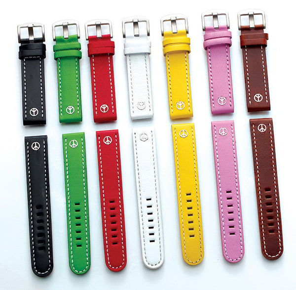 Steel Blaze 18mm 1 Peace Sign Watch Strap-SB Design Studio