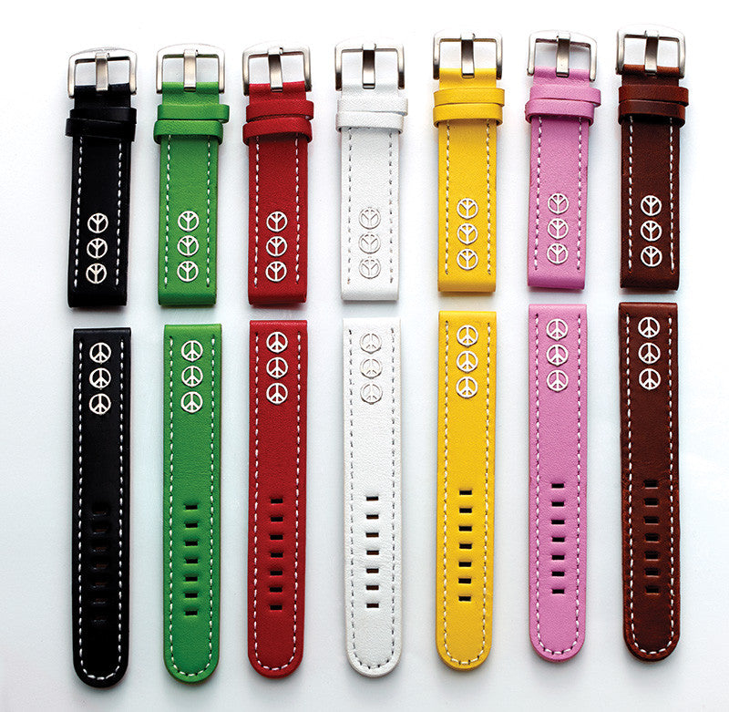 Steel Blaze 18mm 3 Peace Sign Watch Strap-SB Design Studio