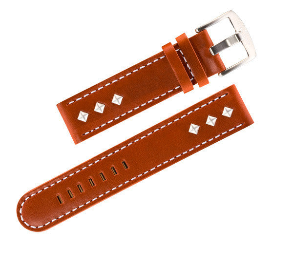 Steel Blaze 20mm Brown Watch Straps w/Rivets-SB Design Studio