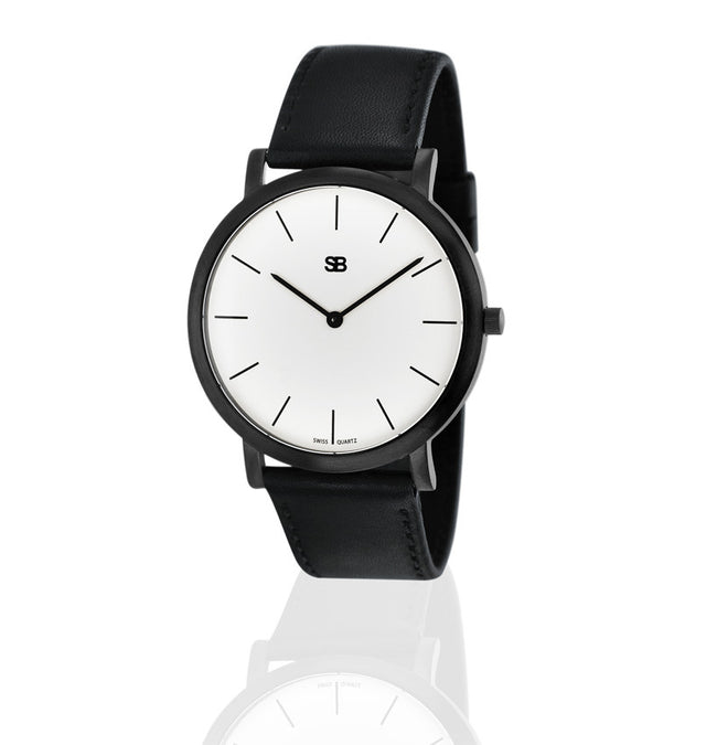SOB1001 SOB Steel Watch w/White Dial-SB Design Studio