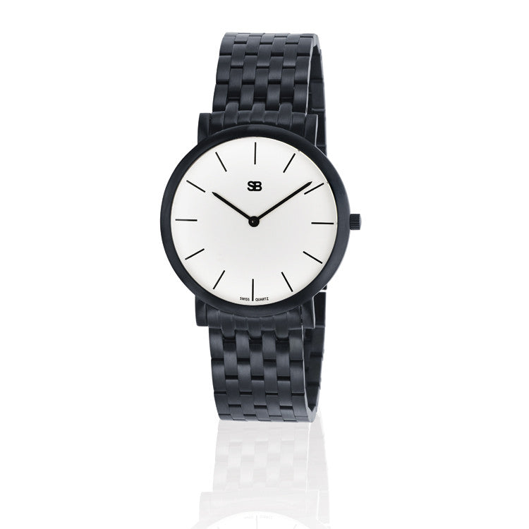 SOB1001/BRLINK SB Steel Watch w/White Dial-SB Design Studio