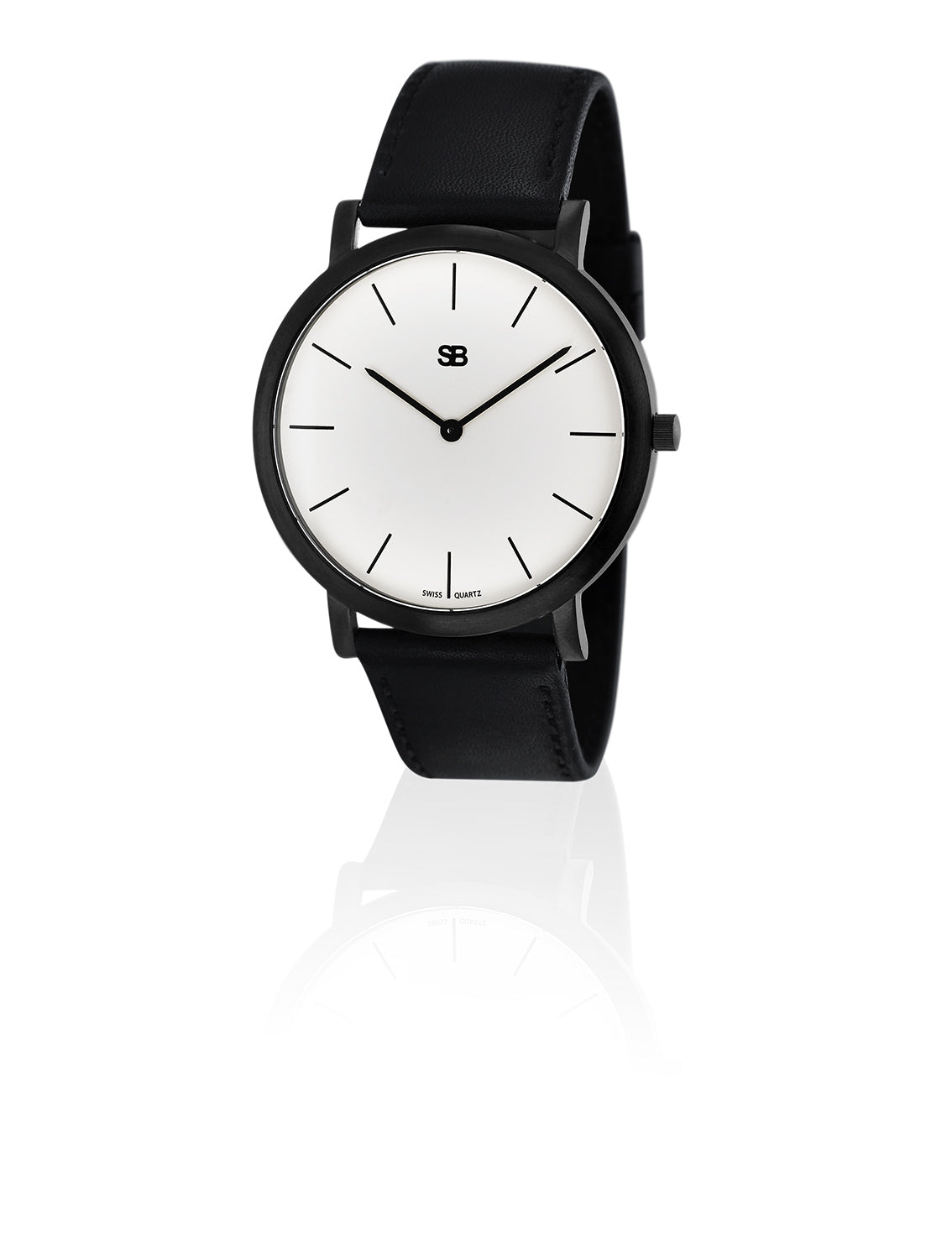 SOB1001 SOB Steel Watch w/White Dial