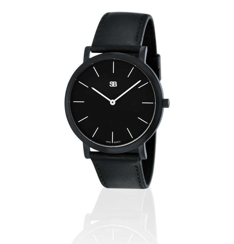 SOB1002 SOB Steel Watch w/Black Dial-SB Design Studio