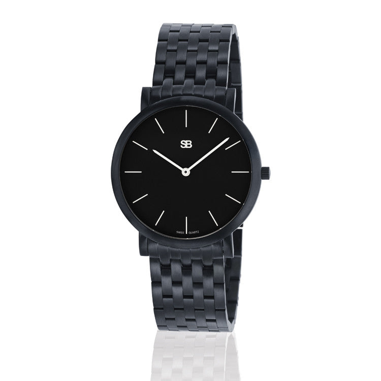 SOB1002/BRLINK SB Steel Watch w/Black Dial-SB Design Studio