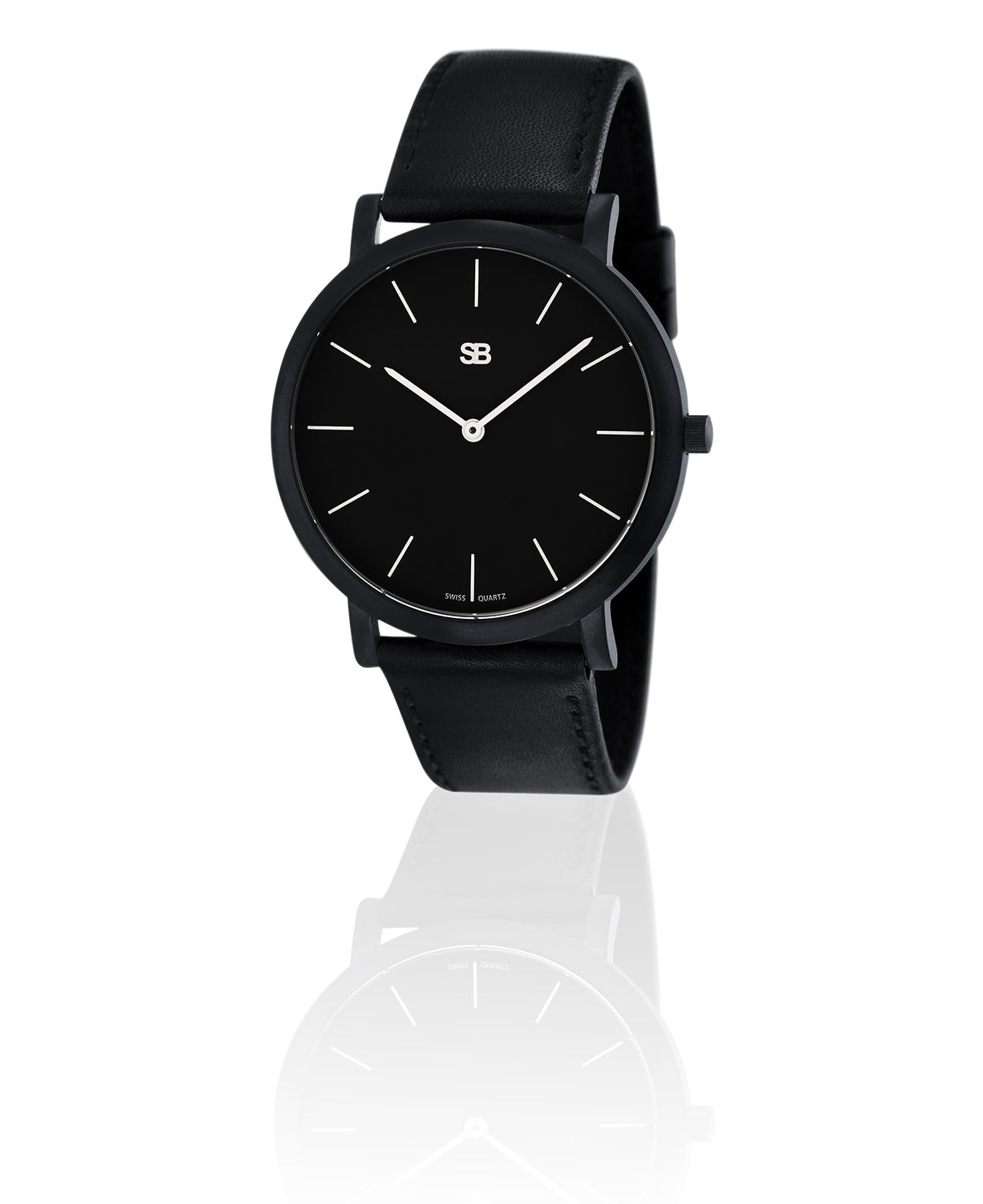 SOB1002 SOB Steel Watch w/Black Dial