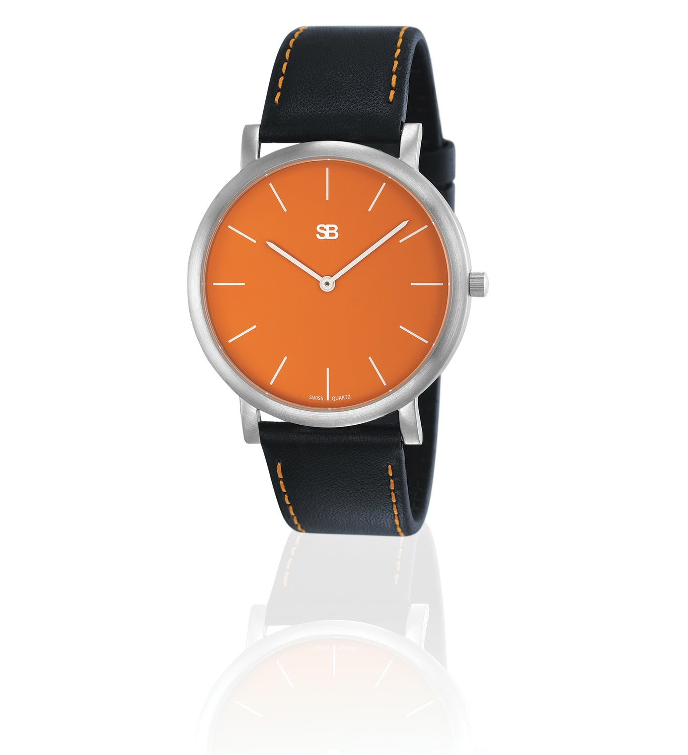 SOB1003 SOB Steel Watch w/Orange Dial