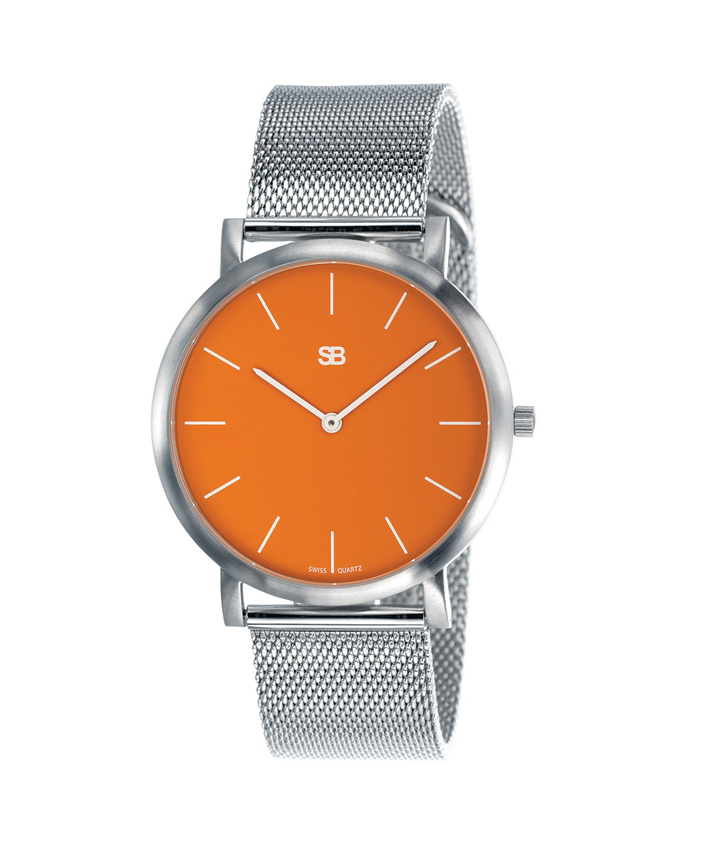 SOB1003 Steel Blaze Watch w/Mesh Bracelet