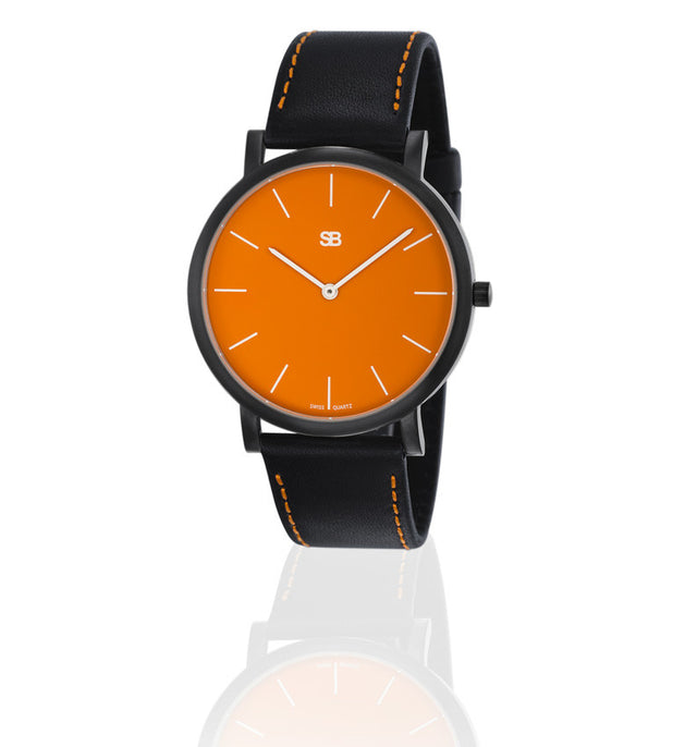 SOB1004 SOB Steel Watch w/Orange Dial-SB Design Studio