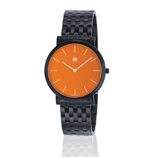 SOB1004/BRLINK SB Steel Watch w/Orange Dial-SB Design Studio