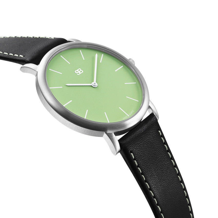 SOB1005 SOB Steel Watch w/Green Dial-SB Design Studio