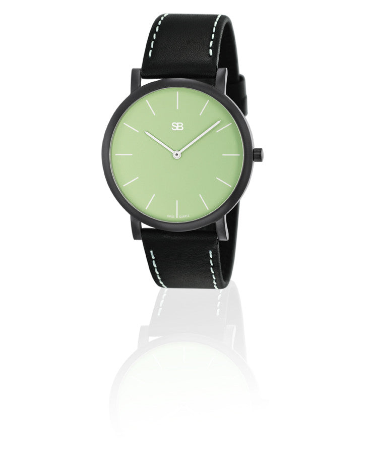 SOB1006 SOB Steel Watch w/Green Dial-SB Design Studio