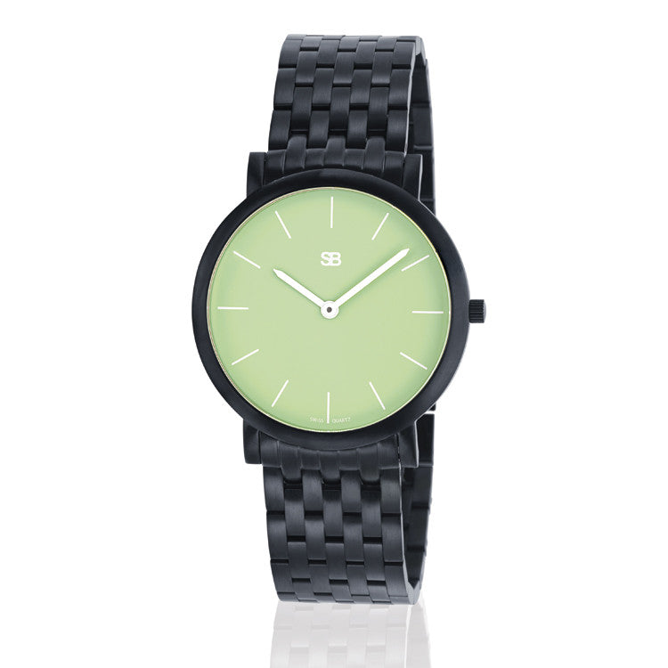 SOB1006/BRLINK SB Steel Watch w/Green Dial-SB Design Studio