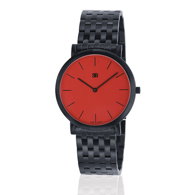 SOB1008/BRLINK SB Steel Watch w/Red Dial-SB Design Studio