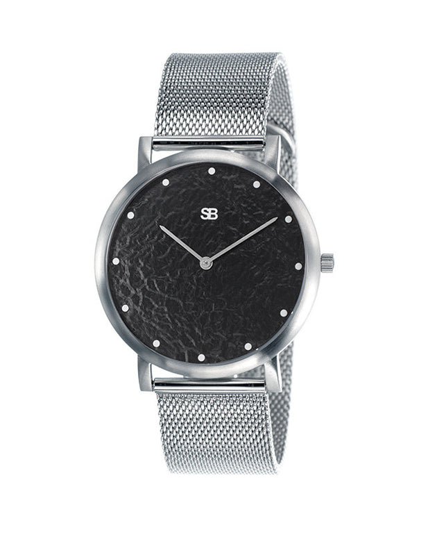 SOB1035 Steel Blaze Watch w/Mesh Bracelet-SB Design Studio