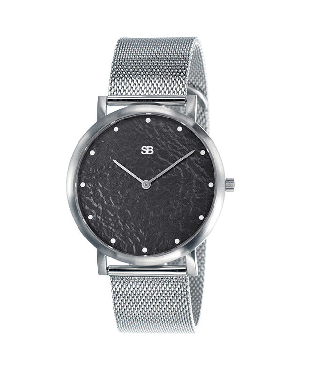 SOB1036 Steel Blaze Watch w/Mesh Bracelet-SB Design Studio
