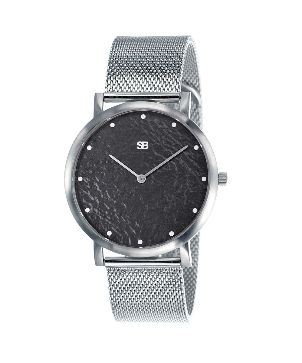 SOB1036 Steel Blaze Watch w/Mesh Bracelet