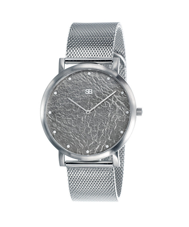 SOB1037 Steel Blaze Watch w/Mesh Bracelet-SB Design Studio