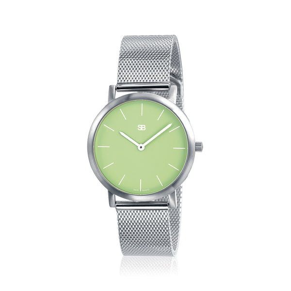 SOB1107 Ladies Steel Watch w/Mesh Bracelet-SB Design Studio