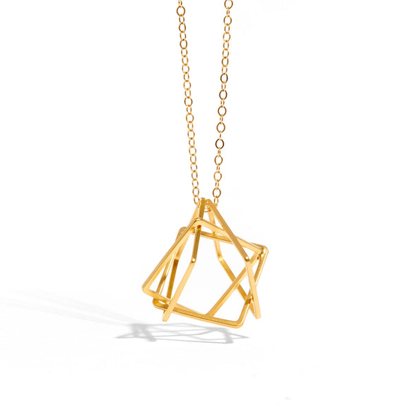 3D asymmetrical necklace