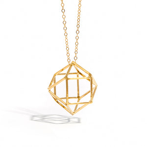 3D Prism - Gold Filled