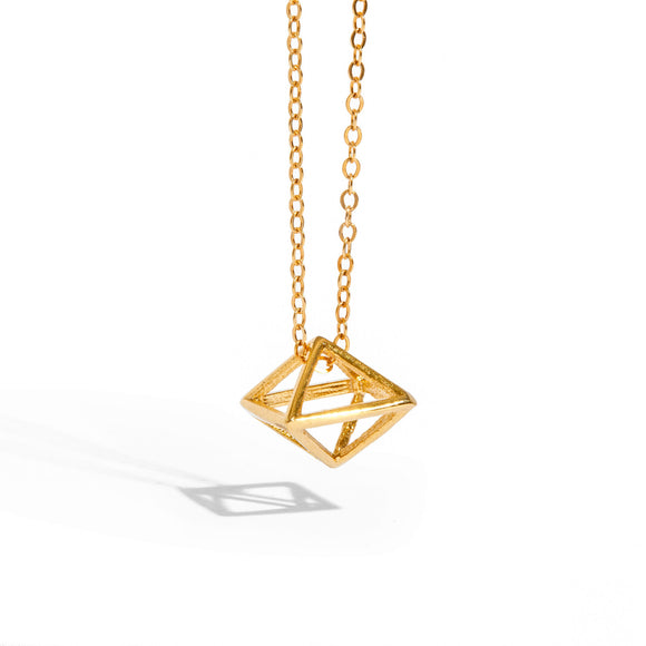 3D Rhombus Necklace