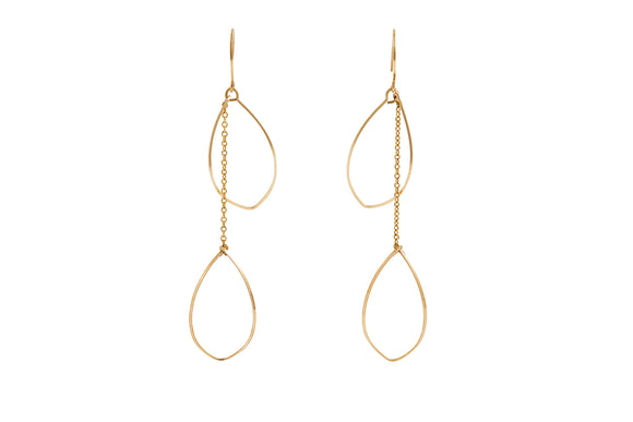 Daphne - Oval Wire Earrings