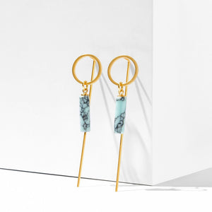 Zlin Earrings with Turquoise Howlite Cylinders