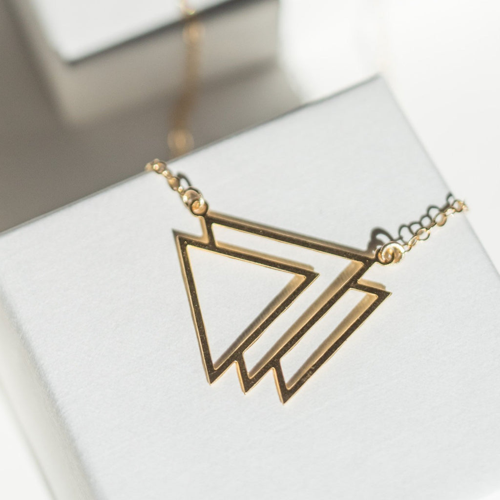 Artemis - Nested Triangles Necklace