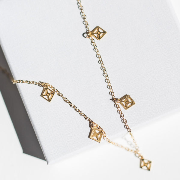 Florence - Choker with Rhombus Charms