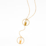 Juno - Adjustable Lariat Necklace with Round Pendants