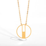Juno - Art Deco Single Round Pendant