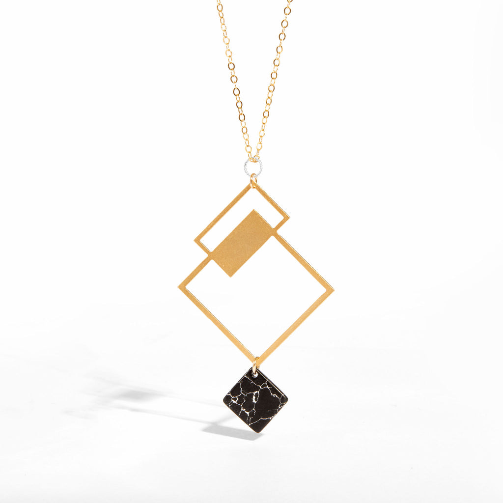 Jupiter Necklace with Black Howlite