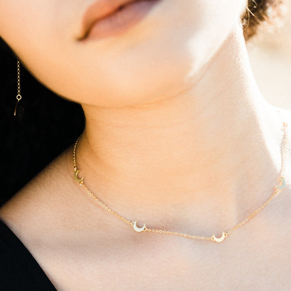 Lunetta - Choker with Tiny Moon Charms