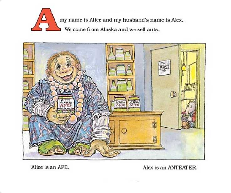 A My Name is Alice by Jane Bayer; illustrated by Steven Kellogg