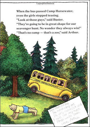 inside Arthur Goes to Camp by Marc Brown