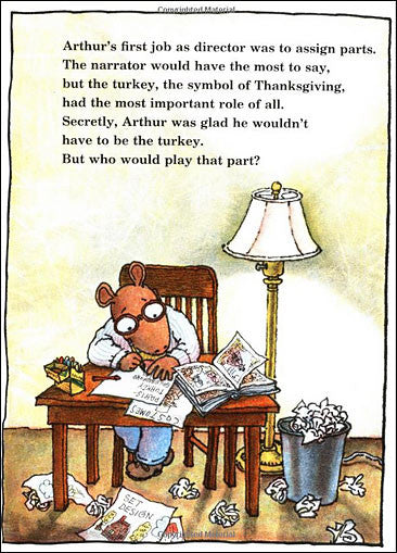 inside Arthur's Thanksgiving by Marc Brown