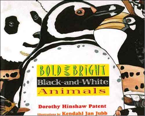 Bold and Bright Black-and-White Animals  by Dorothy Hinshaw Patent;  illustrated by Kendahl Jubb