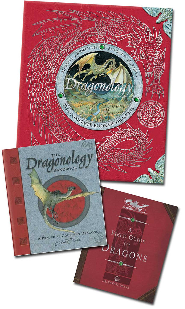 Dragonology, The Dragonology Handbook, and The Field Guide to Dragons (set of three novelty books--all pieces included)